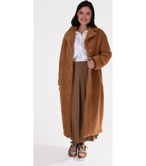 stand jas camilla long coat 61185-9040 cognac