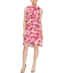 sl fashions floral tiered shift dress