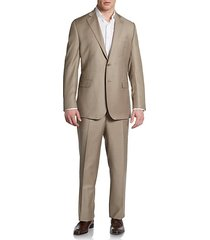 classic-fit wool & silk two-button suit