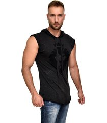 camiseta dalcomuni long destroyed preta