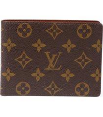 louis vuitton vintage brown monogram canvas wallet brown/monogram sz: