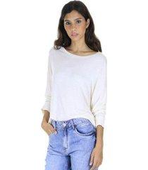 blusa malha manga longa aha feminina - feminino