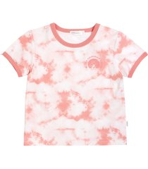 toddler girl's miles kids' summer camp melon tie dye ringer graphic tee, size 4t - coral