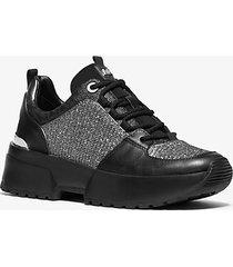 mk sneaker cosmo in materiale misto - nero/argento (argento) - michael kors