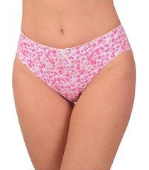 calcinha vip lingerie estilo tangão em cotton estampado - calct004 rosa - kanui