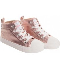 zapatilla ny princess rosado metalizado stepps