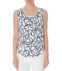 nine west rope-print top