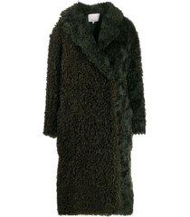 3.1 phillip lim faux shearling coat - pine