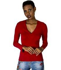 blusa decote v alphorria feminina