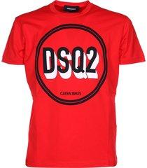dsquared2 caten bros logo t-shirt