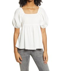 women's bp. babydoll tunic top, size large - white