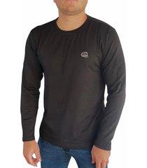camiseta básica manga larga negra fist hombre