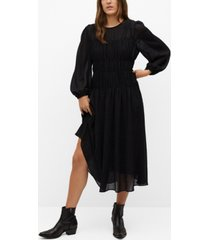 mango women's flowy pleated dress