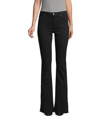 7 for all mankind women's bootcut jeans - black - size 24 (0)