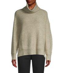 lucca women's turtleneck long-sleeve sweater - grey - size xs