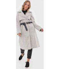 casaco sobretudo lez a lez liso cinza - kanui