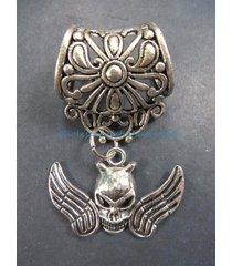 us seller-scarf slides skull angel slider pendant