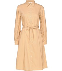 beatrice midi shirt dress jurk knielengte beige soft rebels