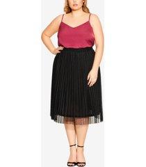 city chic trendy plus size sweet spot skirt