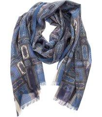 etro delhy adone - wool and silk scarf