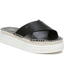 women's franco sarto barb platform slide sandal, size 9.5 m - black