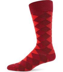 paul smith men's diamond crew socks - red