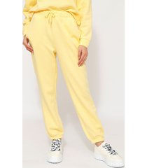 pantalón jogger only amarillo - calce holgado