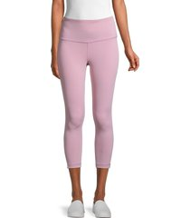 90 degree by reflex women's interlink high-rise leggings - purple - size l