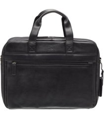"beverly hills collection men's single compartment briefcase with rfid secure pocket for 15.6"" laptop and tablet"