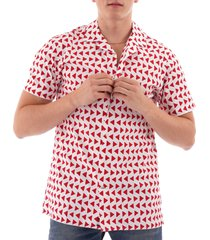 tommy hilfger bold geo shirt - white/red 10934-902