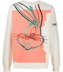 iceberg bugs bunny embroidered sweatshirt - neutrals