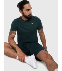 camiseta verde reebok run essentials