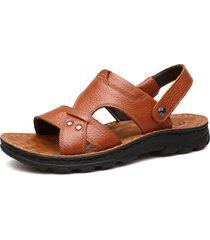 sandali in pelle vera a punta aperta
