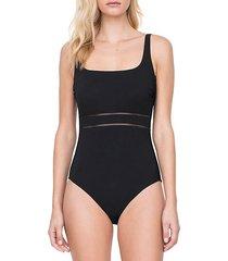 finesse eyelet waist one-piece swimsuit