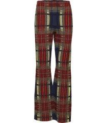 pantalon broek met wijde pijpen multi/patroon sonia rykiel