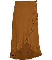 limon l wrap skirt 10458 knälång kjol brun samsøe samsøe
