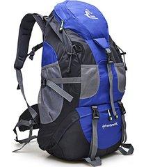 mochila de nylon resistente al agua para escalada - azul