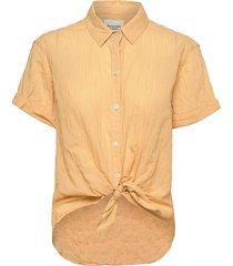 anf womens wovens kortärmad skjorta gul abercrombie & fitch
