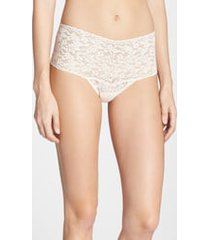 women's hanky panky retro high waist thong, size one size - white
