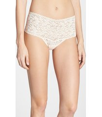 women's hanky panky 'retro' thong, size one size - white
