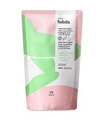 refil creme nutritivo desodorante para o corpo folhas de limão e graviola tododia - 400ml
