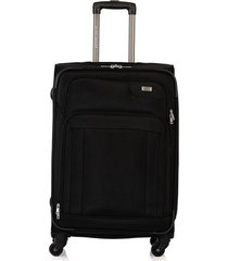 maleta de viaje mediana en lona con cuatro ruedas giratorias 97092
