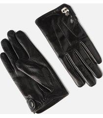 karl lagerfeld women's k/ikonik pin knit gloves - black - l