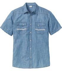 camicia di jeans a manica corta (blu) - john baner jeanswear