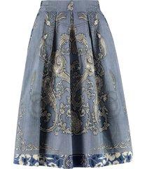 etro printed cotton skirt