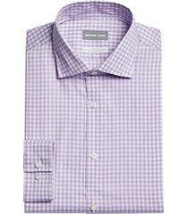 michael kors slim fit dress shirt lilac gingham