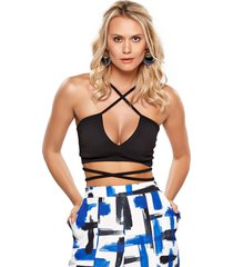 top modisch strappy bra preto