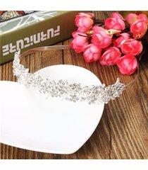 gli accessori dei capelli di hairwear delle nozze della fascia del brasiliano degli argento delle donne