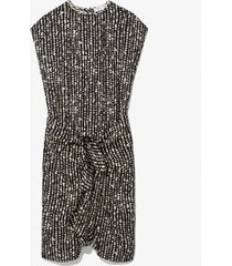 proenza schouler white label inky dot wrap dress black/ecru inky dot 2