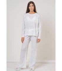 pijama conjunto stars blanco élida